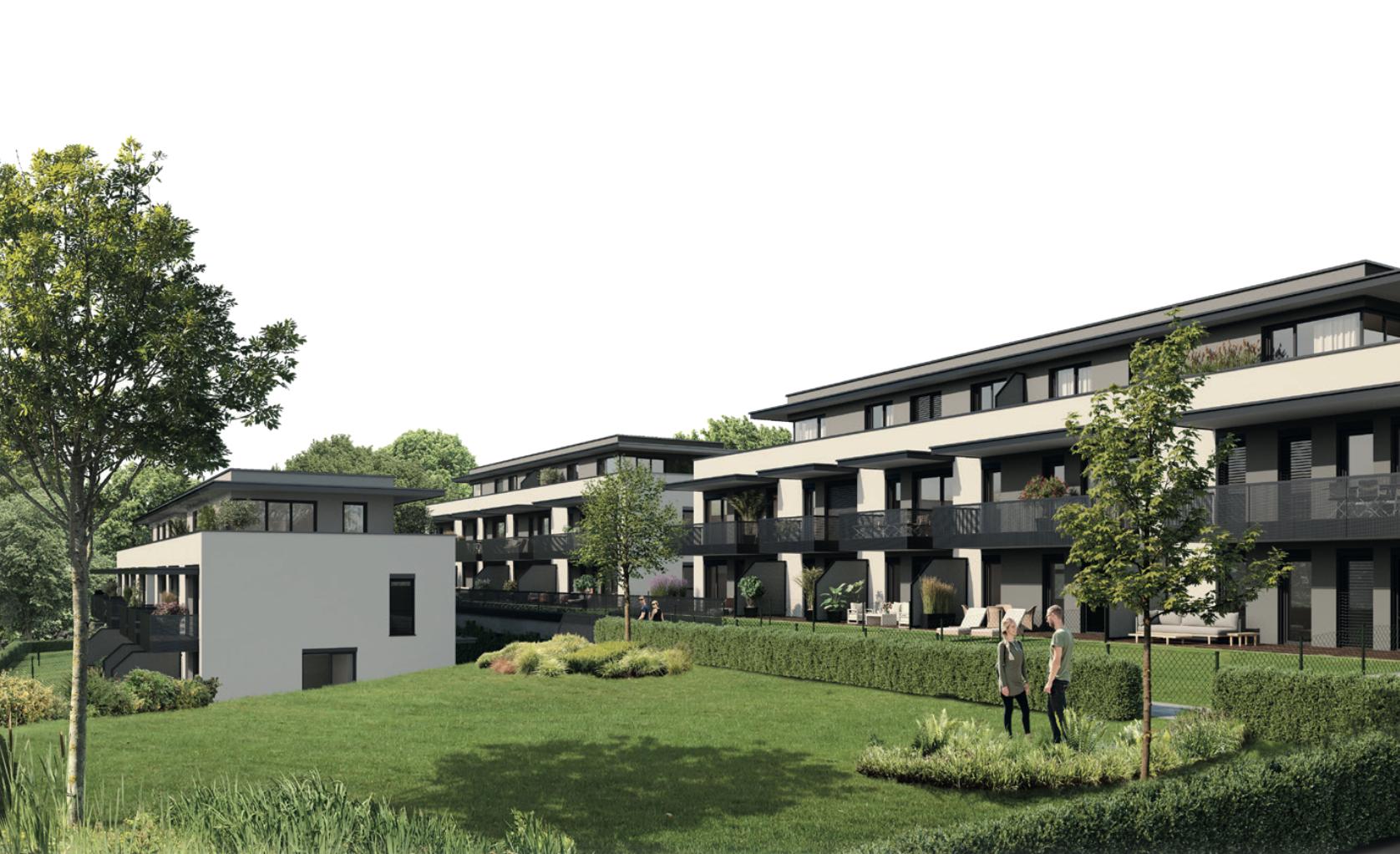ST.-PETER: Neubau-Wohnung mit großem Balkon in Grünlage!