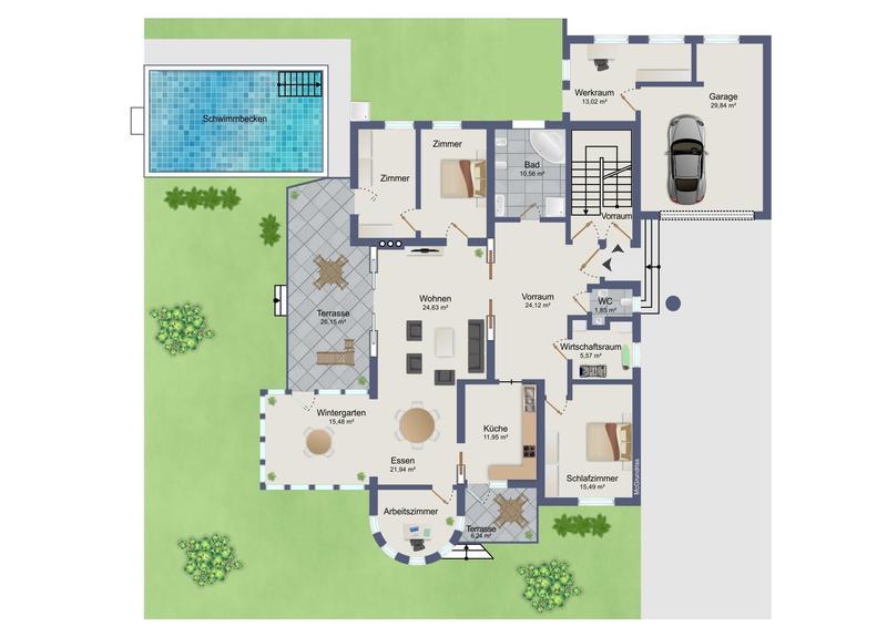 LIEBENAU: Hausetage 154 m² in Sackstraße mit großem Grundstück und Pool!