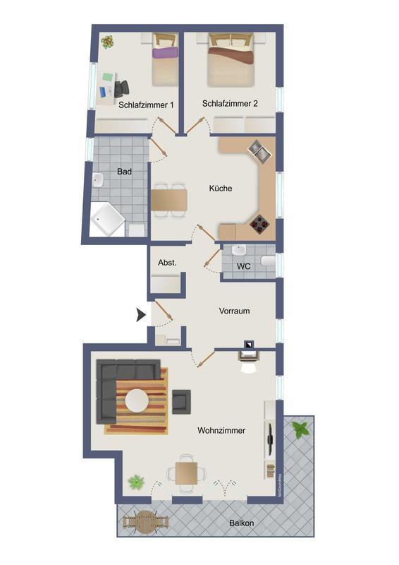 Großzügige 3-Zimmer Wohnung in Kalsdorf