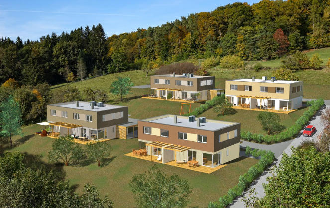 Baugrundstück mit 6.407 m² - Projekt baubewilligt für 8 Doppelhaushälften