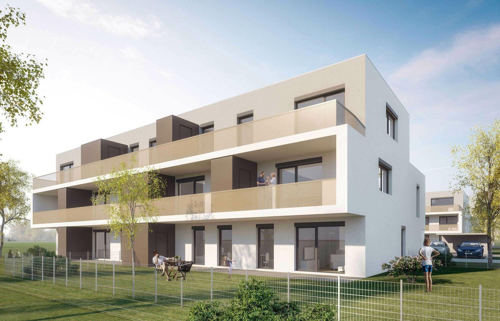 Geförderte Genossenschaftswohnungen mit Eigengarten - Miete mit Kaufrecht