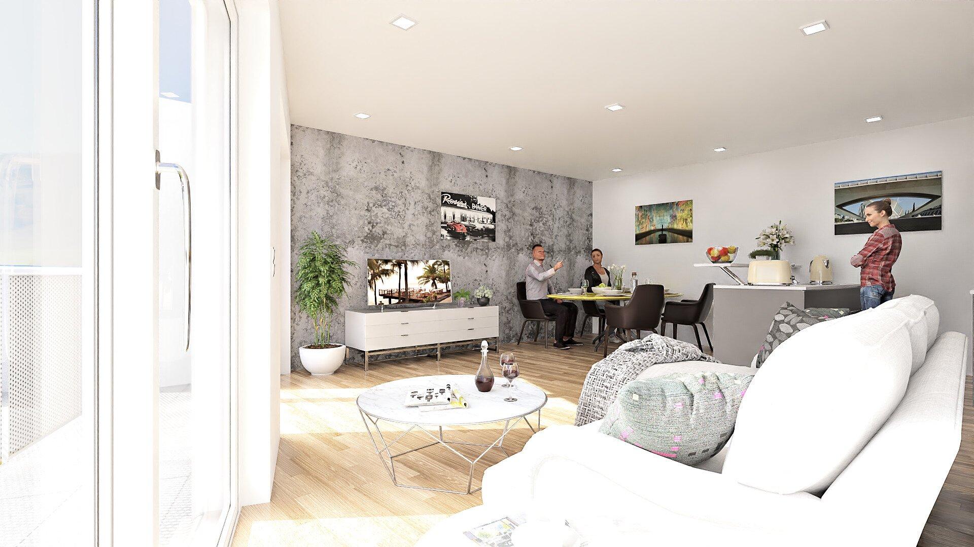 3 Zimmer Eigentumswohnung mit großem Balkon
